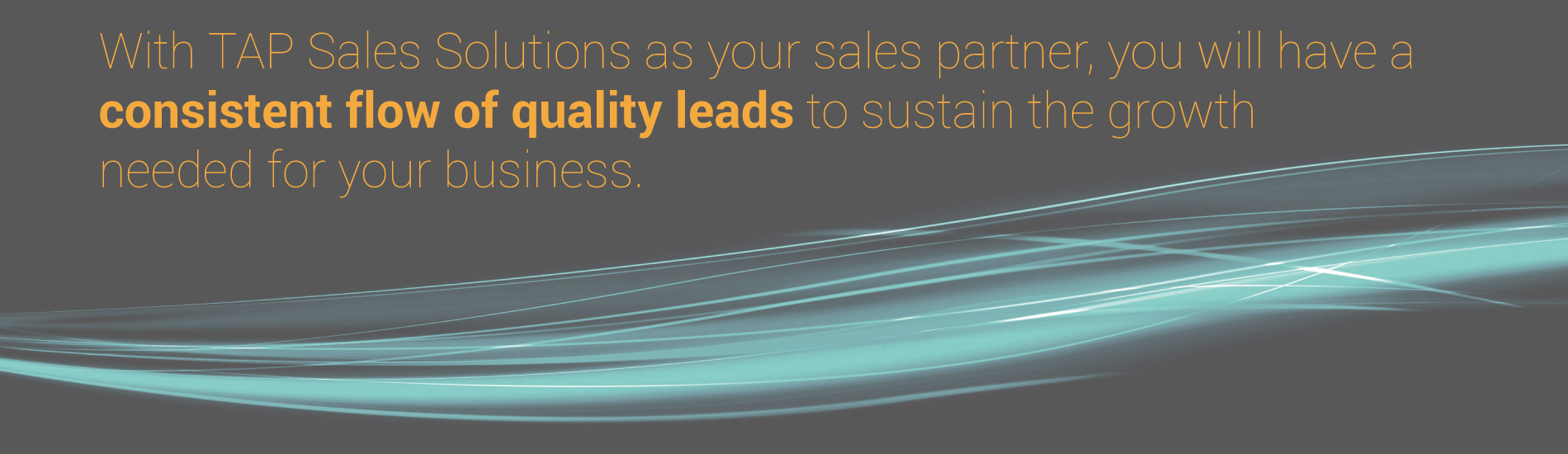 Consistent Flow of QUALITY LEADS